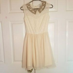 2 for $25 Pinky Sequin Jewel PeterPan Collar Dress